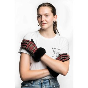 Red Tartan Gloves