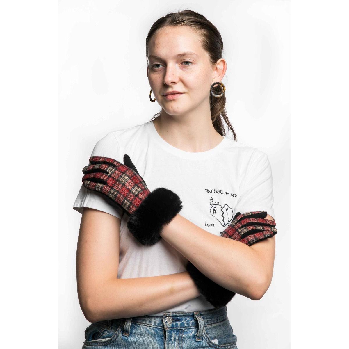 Red Tartan Gloves