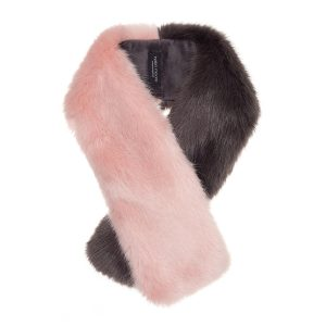 STEEL & DUSKY | FAUX FUR | TWO TONE TIPPET SCARF