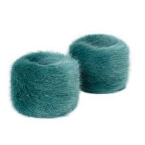 Sea Green | Faux Fur Wrist Warmers