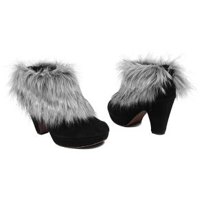 Silver | Faux Fur Shooves