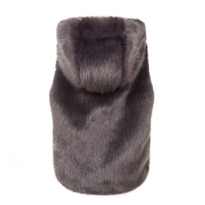 Steel Hooded | Faux Fur Gilet