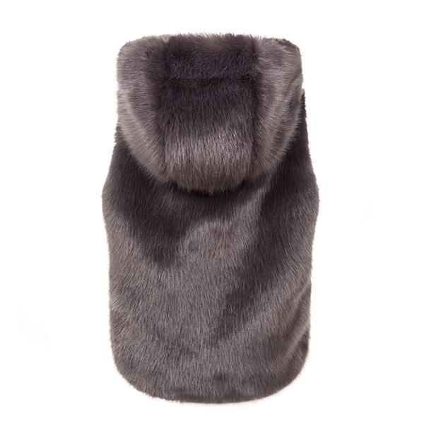 Steel Hooded | Faux Fur Gilet