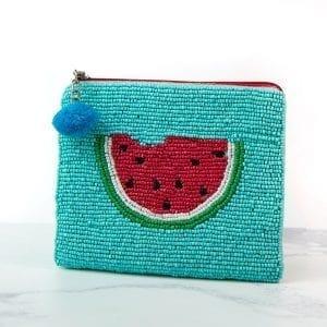 Aqua Watermelon Beaded Purse