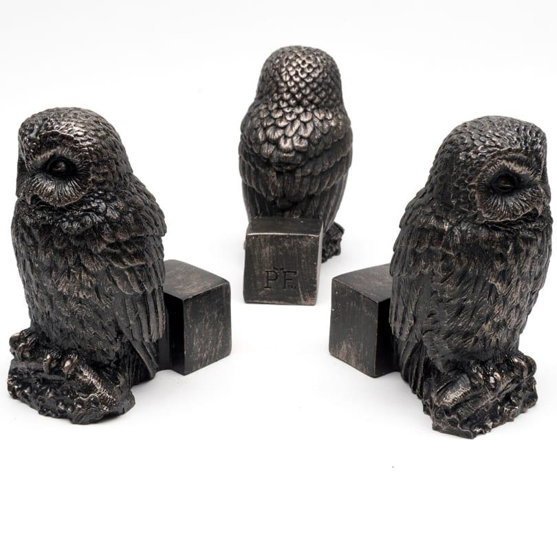 Bronze Owl Set of 3
