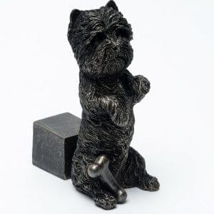 Bronze West Highland Terrier Set of 3