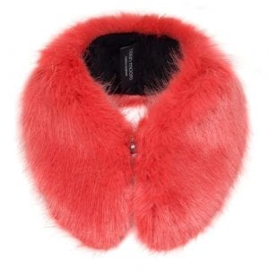 Coral | Faux Fur Shirt Collar