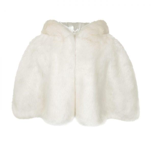 Ermine | Faux Fur Hooded Cape