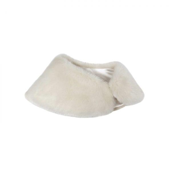 Ermine   Faux Fur Petite Bridal Wrap