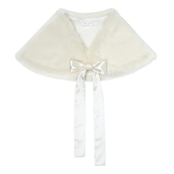 Ermine | Faux Fur Tied Bridal Wrap