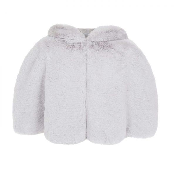 Mist | Cloud Faux Fur Hooded Cape