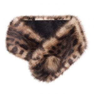 Ocelot | Faux Fur Pom Button Collar