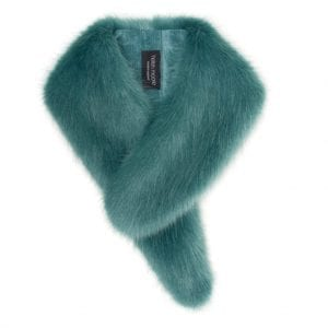 Sea Green | Faux Fur Vintage Collar