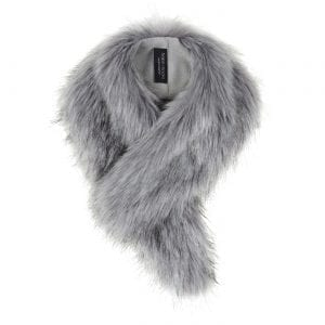 Silver | Faux Fur Vintage Collar