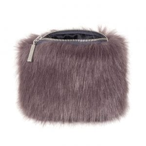 Steel | Faux Fur Coin Purse
