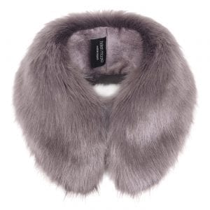 Steel | Faux Fur Shirt Collar