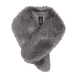 Steel | Faux Fur Vintage Collar