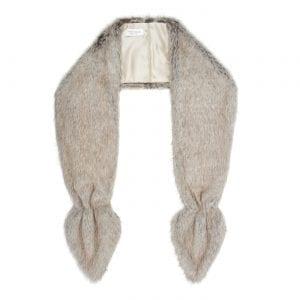 Truffle | Faux Fur Bridal Vixen Scarf