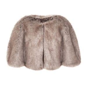 Truffle | Faux Fur Cape