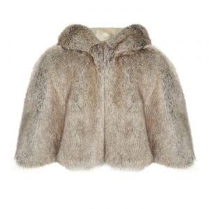Truffle | Faux Fur Hooded Cape