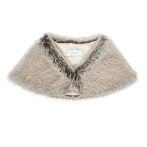 Truffle | Faux Fur Petite Bridal Wrap