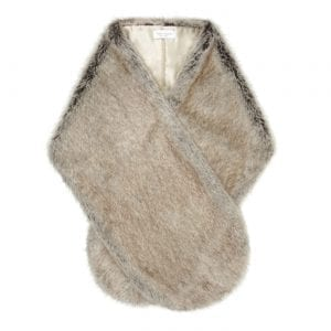 Truffle | Faux Fur Rounded Stole