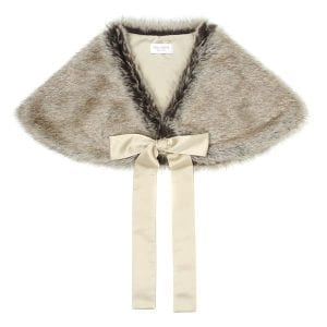Truffle | Faux Fur Tied Bridal Wrap