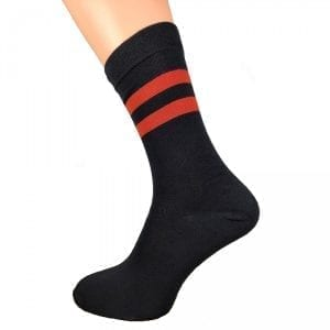 BLACK | RED STRIPED SOCKS