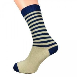 BLUE & CREAM | STRIPED SOCKS