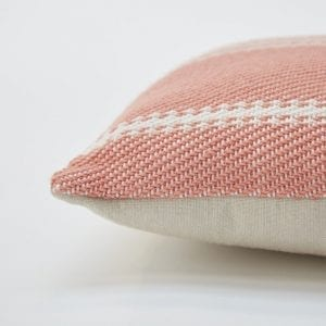 LIGHTWEIGHT | CORAL OXFORD STRIPE CUSHION