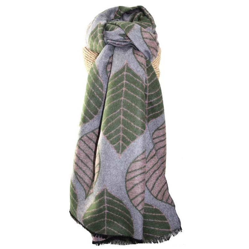 Olive Leaves Scarf