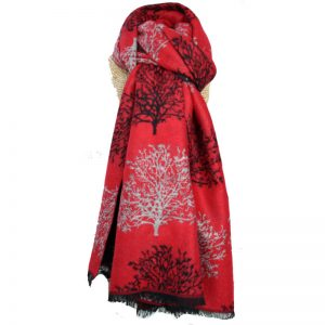 Terry Trees Red Scarf