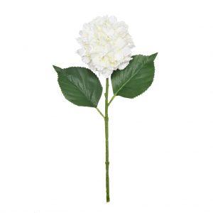 38cm Cream Hydrangea Ball Stem