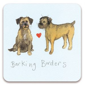 BARKING BORDERS | DOG COASTER