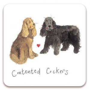 CONTENTED COCKERS | DOG COASTER