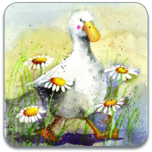 DUCK IN THE DAISIES | COASTER