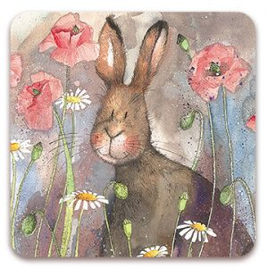HARE & POPPIES | COASTER