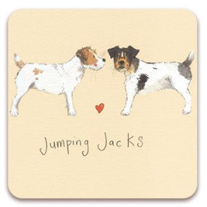 JUMPING JACKS | DOG COASTER