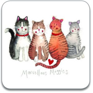 MARVELLOUS MOGGIES | CAT COASTER