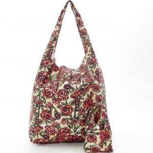 Beige Rose Foldaway Shopper