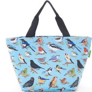 Blue Wild Birds Lunch Bag