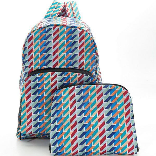 Colour Geometric Foldable Backpack