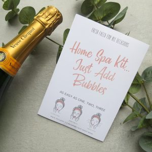 Home Spa Kit... Just Add Bubbles | Face Mask