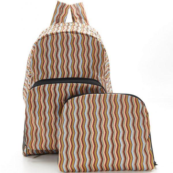 Neutral Zig Zag Foldable Backpack