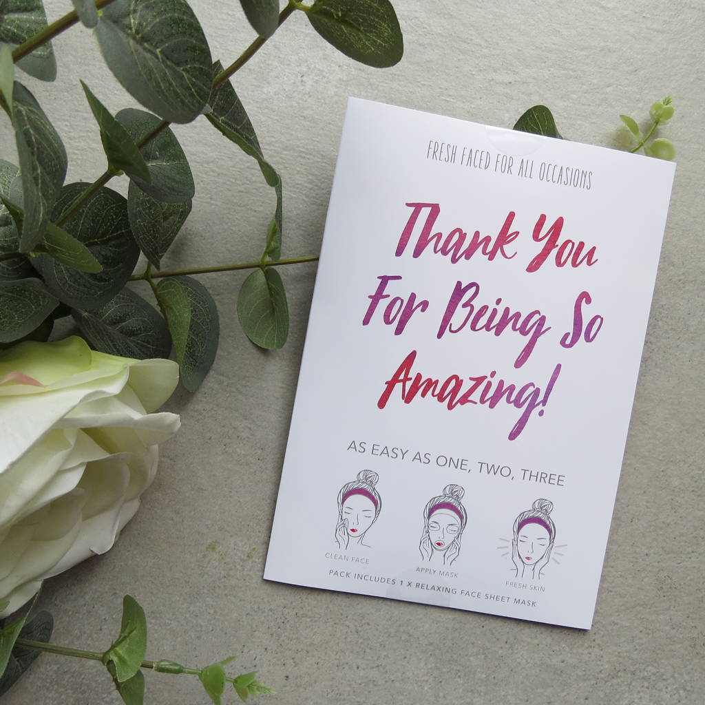 Thank You For Being So Amazing | Face Mask