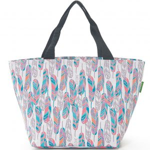 White Feather Lunch Bag
