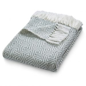 Diamond | Sky Grey Throw