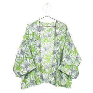 GREEN LARGE FLOWER | KIMONO