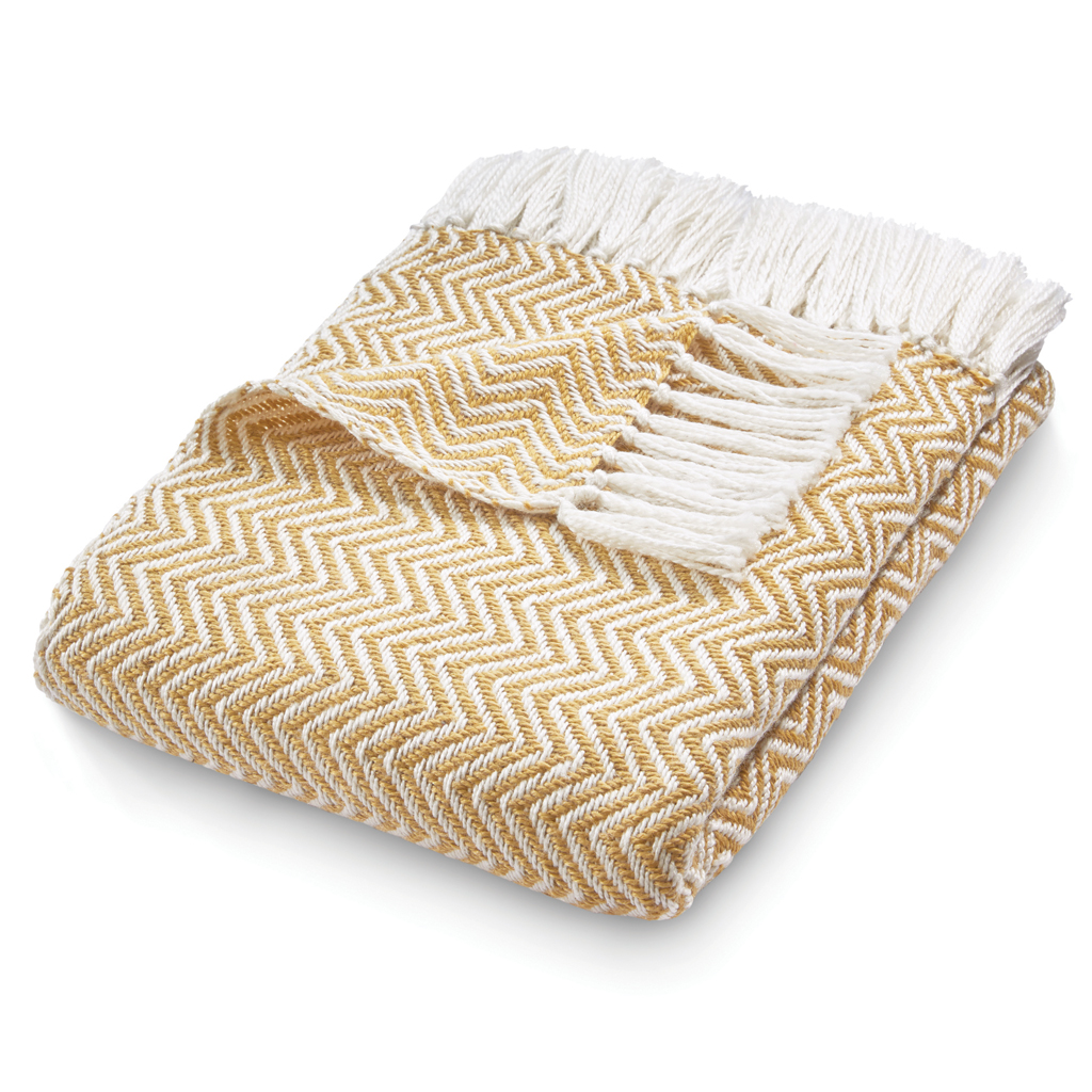 Herringbone | Gold Throw