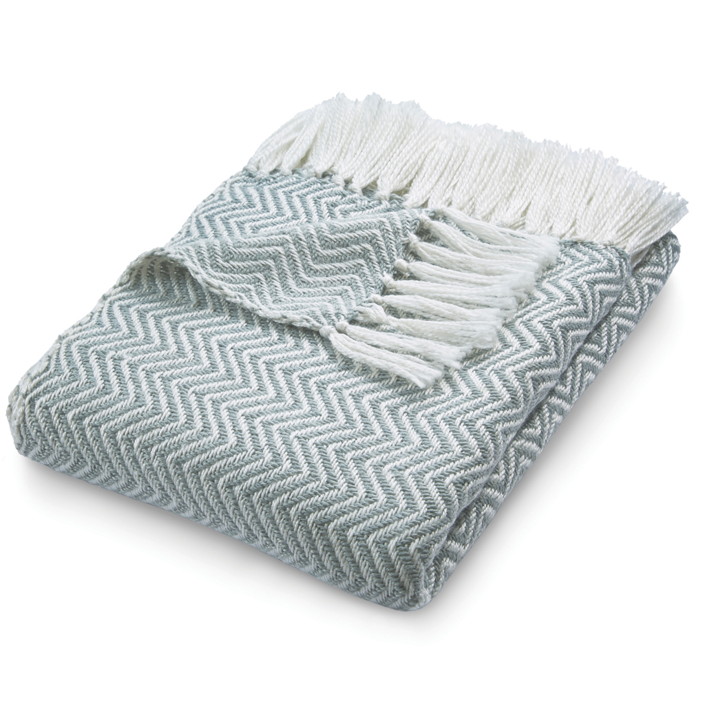 Herringbone | Sky Grey Throw